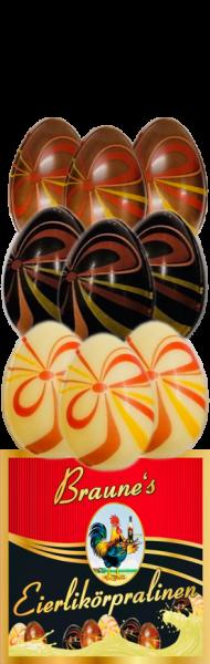 9 Eierlikörpralinen in Schokolade - Mix