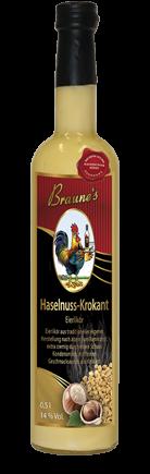 Eierlikör mit Kondensmilch - Haselnuss-Krokant
