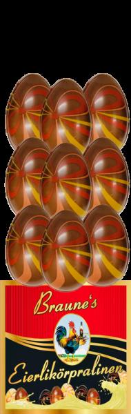 9 Eierlikörpralinen in Vollmilchschokolade