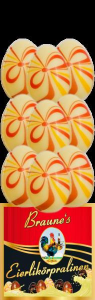 9 Eierlikörpralinen in weißer Schokolade